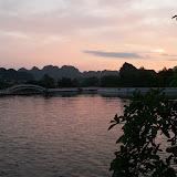 Coucher de soleil sur Tam Côc