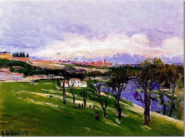 Aureliano de Beruete y Moret - La pradera de San Isidro 1909