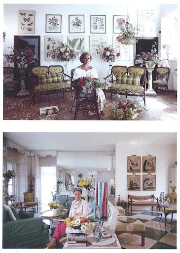 These two rooms are beyond fab. Contessa Giuppi Pietromarchi in her garden room at La Ferriera, her family's Capalbio Villa, September 1986 (top). Contess Lili Gerini at the Gerini villa, Santa Liberata, Porto Ercole, August 1973 (bottom).