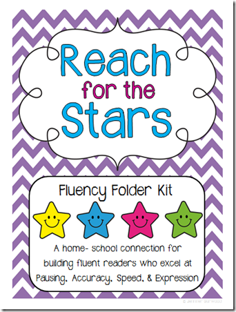 Reach for the stars fluency folder cover