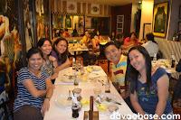 Davao Sugar's May Flor Morgia, Marc Alalong and Fai Gempesaw, with Pacific Sugar alumnae Leah and Menchie Gudian