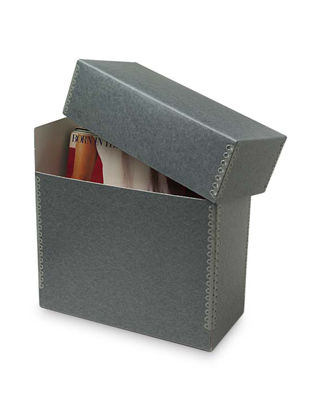 A museum quality archival box is the perfect container for your gift. Afterward, they can keep photos in the box for safe keeping. (containerstore.com)