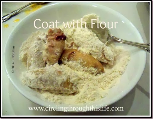 Coating Chicken Wings with Flour Buffalo Wings Recipe