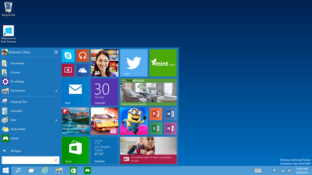 Disfruta de Windows 10