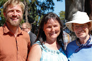 Ben with Trudy Spiller and Jennifer Burgis at the Victoria Labour Day Picnic