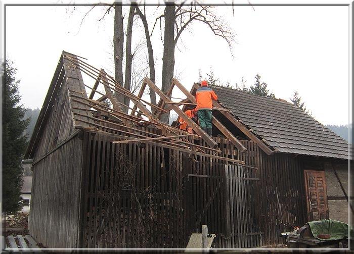 Dacharbeiten Rückseite