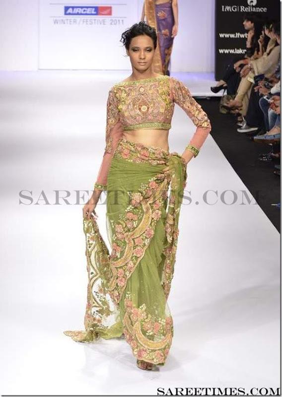 Preeti_S_Kumar_Green_Designer_Saree