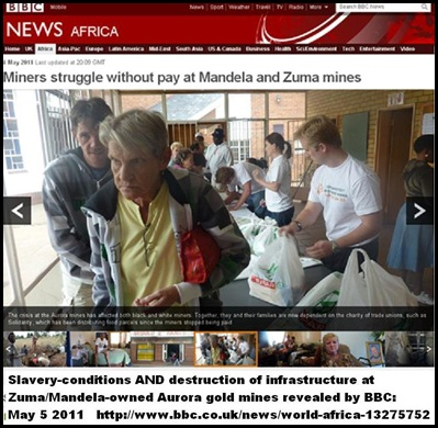 Miners struggle without pay at Zuma Mandela Aurora mines
