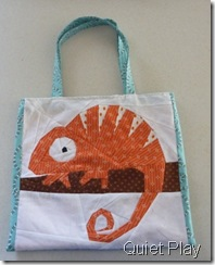 Orange chameleon bag