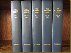 Waterman and Webster Family History Books