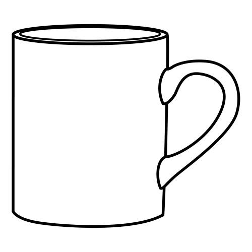 Чашка раскраска для детей