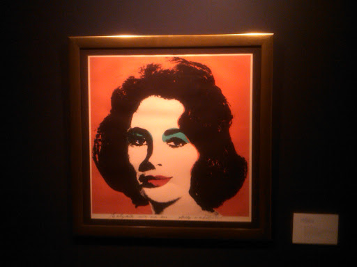 Andy Warhol's rendition of Elizabeth.