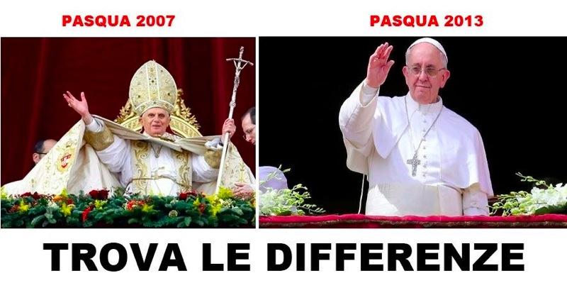 Papa Francesco vs Papa Ratzinger