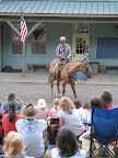 A highlight of our stay was the Street Show on Main Street. Here a cowboys tells a story right out of the Old West.