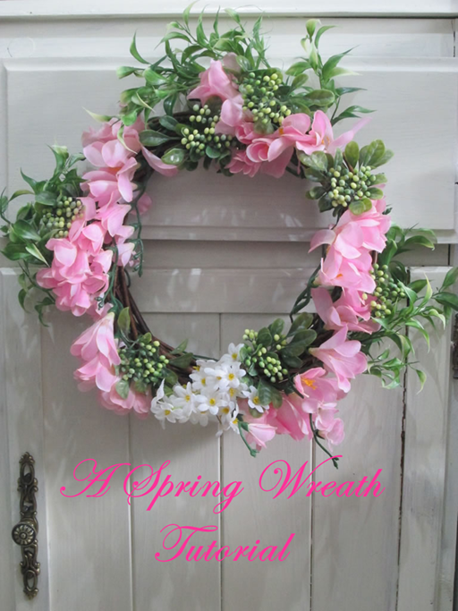 spring wreath tutorial