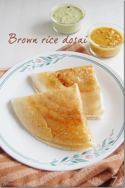 Brown rice dosai