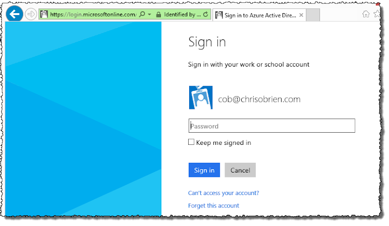 COB Office 365 sign-in - web