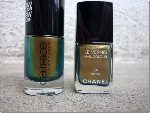 Chanel Peridot vs. Catrice Genius in the Bottler
