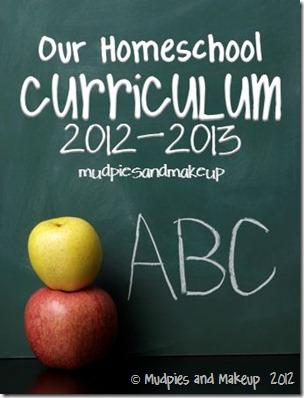 Homeschool Curriculum 2012-13