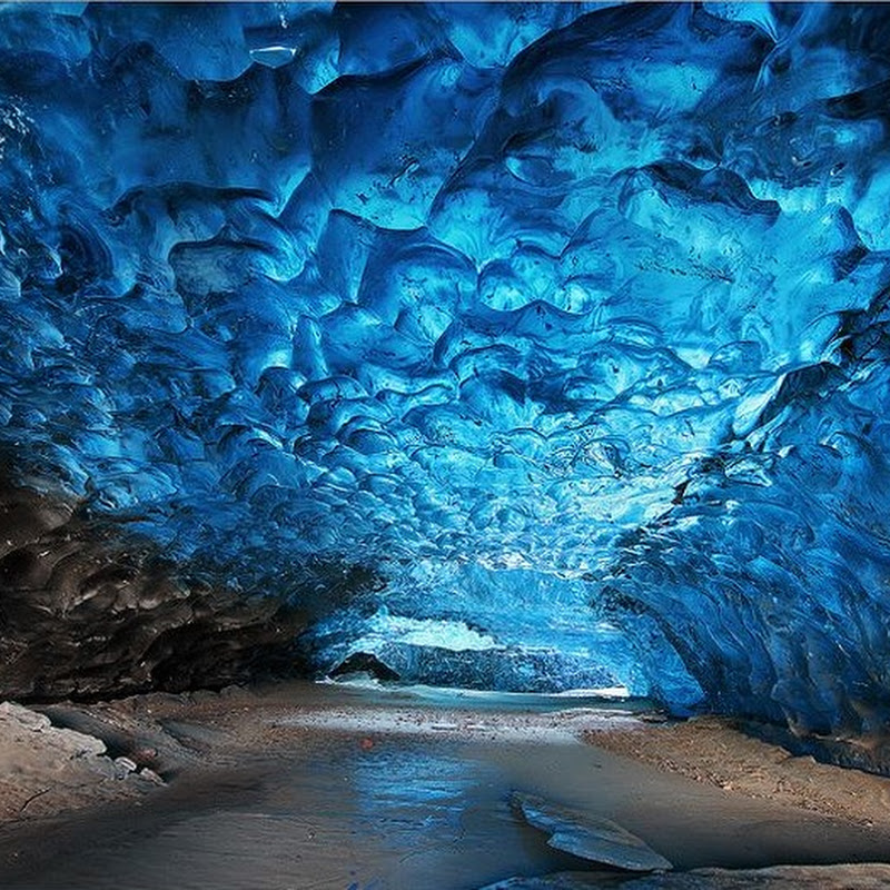 Ice Cave In Skaftafell, Iceland