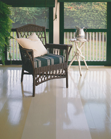 Update your patio with this subtle addition of stripes. (marthastewart.com/269527/painted-floors)
