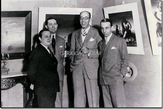 Cândido Portinari, Antônio Bento, Mario de Andrade e Rodrigo Melo Franco