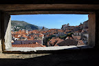 Dubrovnik through the wall