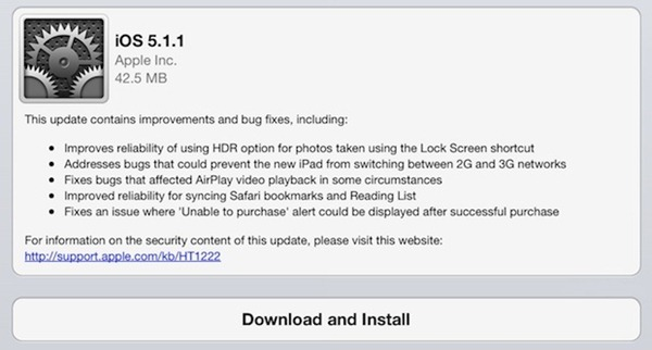 iOS 5.1.1 dilancarkan kepada umum