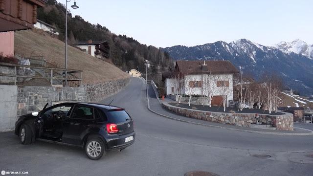 car parked in triestenberg in Vaduz, Vaduz, Liechtenstein