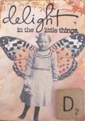 delight in the little things winged girl atc