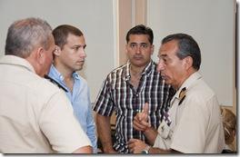 El Prefecto de Gral. Lavalle visitó la Central de Videovigilancia del municipio
