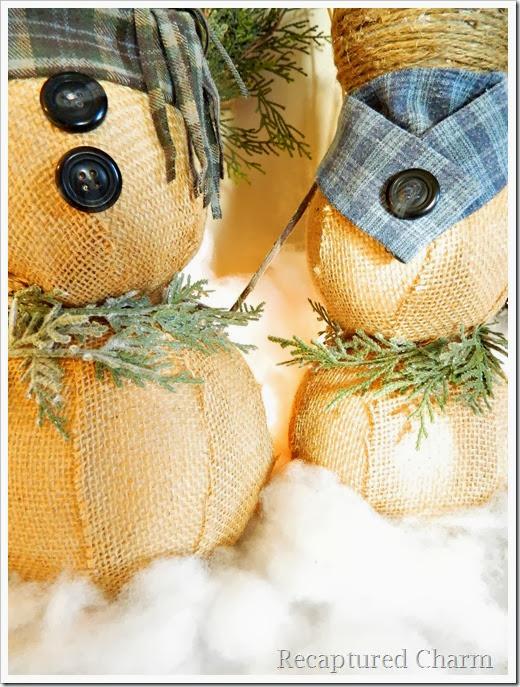 burlap & twine snowmen48