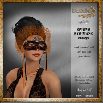 DANIELLE Spider Mask Orange'