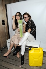 NEW YORK, NY - SEPTEMBER 16:  Actors Emmy Rossum (L) and Jessica Stroup host Origins Smartyplants event benefiting chartity: water at JIMMY at the James Hotel on September 16, 2013 in New York City.  (Photo by Bryan Bedder/Getty Images for Origins)