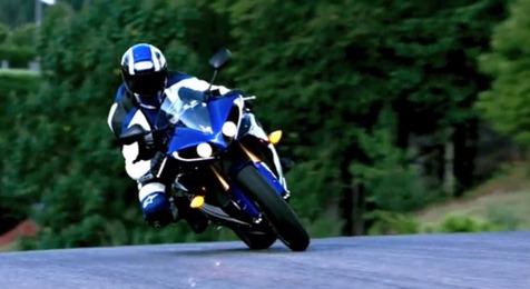 Yamaha YZF-R1 cornering