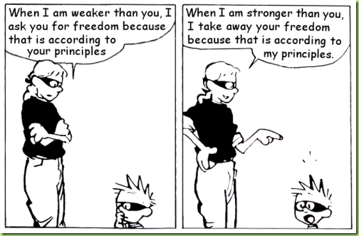 Calvin's mom on freedom