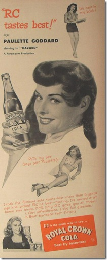 Royal Crown Cola Paulette Goddard