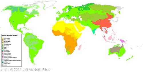 'Human Language Families Map' photo (c) 2011, Jeff McNeill - license: http://creativecommons.org/licenses/by-sa/2.0/