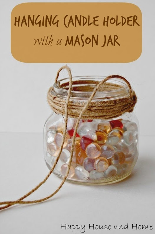 mason jar hanging candle holder 1