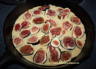 Fig Polenta Cake - figs added B