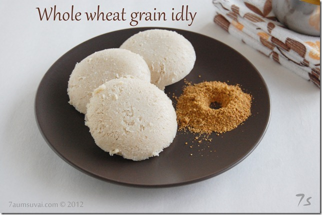 Whole wheat grain idly