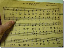 From the front of the choir: How to cope with sheet music if you don