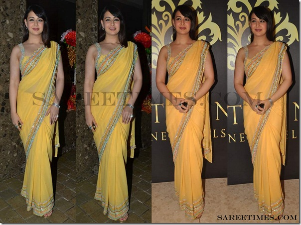 Preeti_Jhangiani_Yellow_Saree