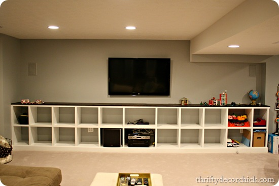Basement Built in Storage