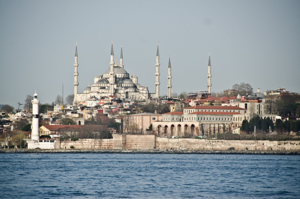 Views of the Blue Mosque from the river