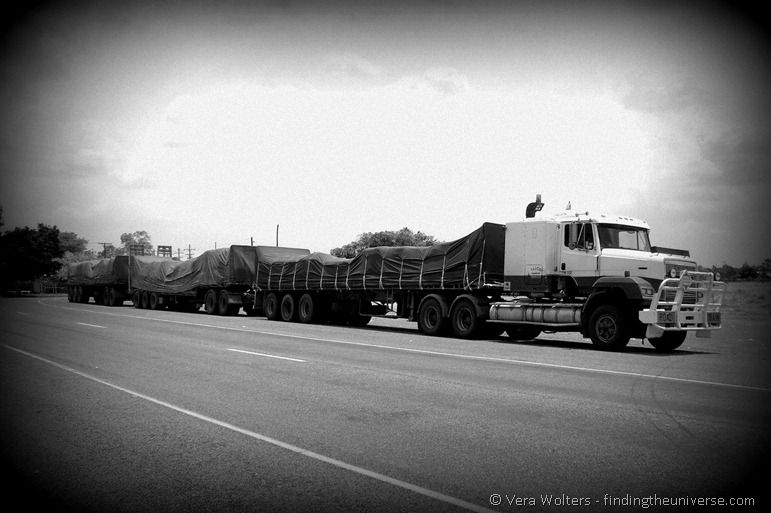 Road train Australian outback