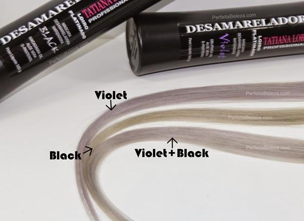 desamarelador tatiana lobo, resenha matizador black, desamarelador violet