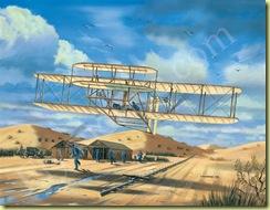 1217 premier vol avion à moteur