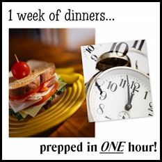 one week dinners button