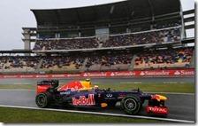 Webber nelle prove del gran premio di Germania 2012